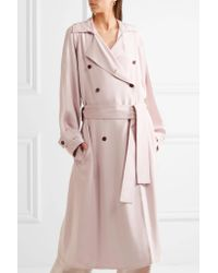 Gabriela Hearst | Pink Cabot Oversized Silk-charmeuse Trench Coat | Lyst