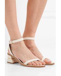 Tibi | White Peyton Leather Sandals | Lyst