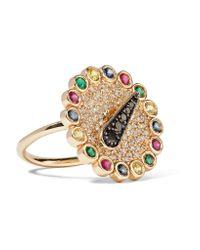 Alison Lou | Metallic + Hasbro Spinner 14-karat Gold Multi-stone Ring | Lyst