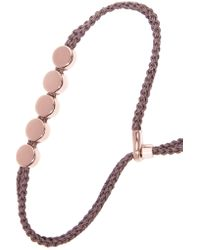 Monica Vinader | Metallic Linear Bead Rose Gold Vermeil And Woven Bracelet | Lyst