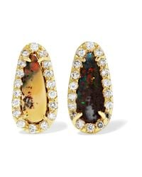 Kimberly Mcdonald | Metallic 18-karat Gold, Opal And Diamond Earrings | Lyst