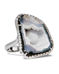 Kimberly Mcdonald | 18-karat White Gold, Geode And Diamond Ring | Lyst