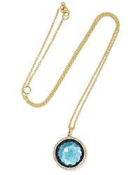 Ippolita | Metallic Rock Candy Lollipop 18-karat Gold, Topaz And Diamond Necklace | Lyst