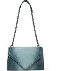 Bottega Veneta | Blue Piano Crocodile Shoulder Bag | Lyst