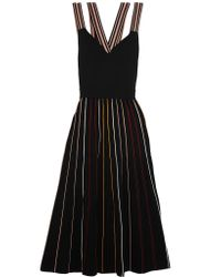 Roksanda | Black Shiori Striped Ribbed Stretch-knit Dress | Lyst