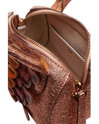 Anya Hindmarch - Multicolor Vere Mini Laser-cut Appliquéd Metallic Textured-leather Tote - Lyst