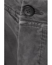 James Perse | Gray Cropped Stretch Cotton-blend Twill Tapered Pants | Lyst