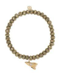 Bracelet En Or 14 Carats, Pyrites Et Diamants Rocket Sydney Evan en coloris Metallic