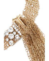 Lanvin - Metallic Gold-tone Swarovski Crystal Choker - Lyst