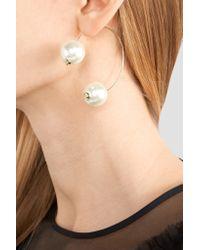 Simone Rocha - White Gold-tone Faux Pearl Earring - Lyst