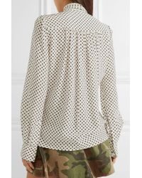 Marc Jacobs - Multicolor Pussy-bow Polka-dot Silk Crepe De Chine Blouse - Lyst