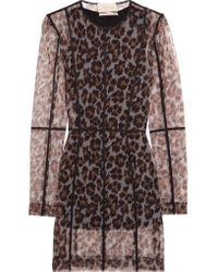 Christopher Kane | Multicolor Leopard-print Stretch-mesh Mini Dress | Lyst