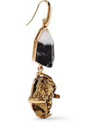 Christopher Kane - Metallic Gold-tone Stone Earrings - Lyst