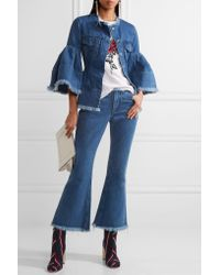 Marques'Almeida Blue Frayed Denim Jacket
