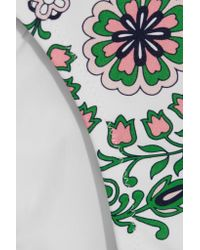 Tory Burch - Green Garden Party Printed Underwired Swimsuit - Lyst
