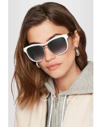 Sacai - Multicolor Linda Farrow Square-frame Acetate And Silver-tone Sunglasses - Lyst