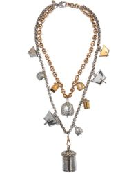 Alexander McQueen | Metallic Silver And Gold-tone Necklace | Lyst