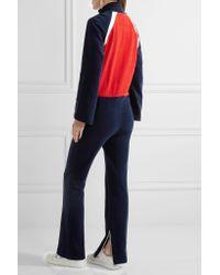 Off-White c/o Virgil Abloh - Blue Color-block Cotton-terry Jumpsuit - Lyst