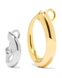 Charlotte Chesnais - Metallic Monie Gold-dipped And Silver Clip Earrings - Lyst