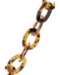 Staud Metallic Tortoiseshell Resin Sunglasses Chain