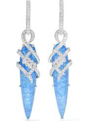 Stephen Webster | 18-karat White Gold, Quartz And Diamond Earrings | Lyst