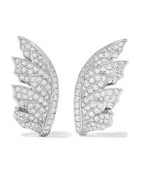 Stephen Webster | Metallic Magnipheasant 18-karat White Gold Diamond Earrings | Lyst