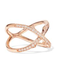 Stephen Webster | Metallic Thorn Stem 18-karat Rose Gold Diamond Ring | Lyst
