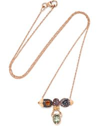 Daniela Villegas | Metallic Selby 18-karat Gold Multi-stone Necklace | Lyst