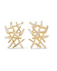 Suzanne Kalan | Metallic 18-karat Gold Diamond Earrings | Lyst