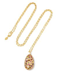 Pippa Small - Metallic 18-karat Gold Tourmaline Necklace - Lyst