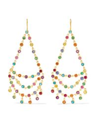 Marie-hélène De Taillac | Metallic Dancing Emilie 18-karat Gold Multi-stone Earrings | Lyst