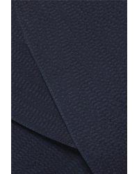 Pantalon Large En Satin De Soie Martelé À Drapés Caldwell Roland Mouret en coloris Blue