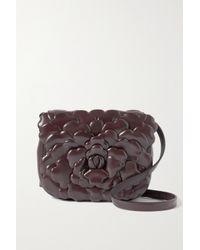 Valentino Garavani Brown Garavani 03 Rose Edition Atelier Small Leather Shoulder Bag