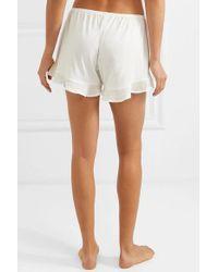 Skin White Joslyn Pyjama-shorts Aus Pima-baumwolle Mit Rüschen