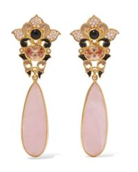 Percossi Papi | Metallic Gold-plated Multi-stone Earrings | Lyst