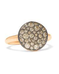 Pomellato | Metallic Sabbia 18-karat Rose Gold Diamond Ring | Lyst
