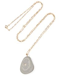 Cvc Stones | Metallic Sol De Mayo 18-karat Gold, Stone And Diamond Necklace | Lyst