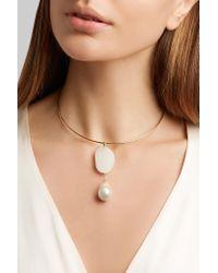 CVC Stones   Metallic Perla Piove 18-karat Gold Multi-stone Choker   Lyst