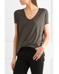 Rick Owens Black Oversized Jersey T-shirt