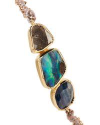 Brooke Gregson Metallic Triple Orbit 18-karat Gold Multi-stone Bracelet