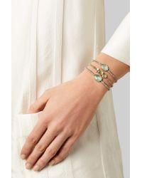 Brooke Gregson Metallic Triple Orbit 18-karat Gold Diamond Bracelet