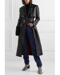 Trench-coat En Cuir À Ceinture Alexander Wang en coloris Black