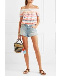 Lemlem Multicolor Striped Off-the-shoulder Top