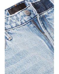 Jean Droit Taille Haute Effet Vieilli Luke RTA en coloris Blue