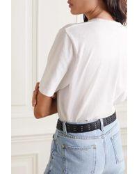 Saint Laurent White T-shirt Aus Baumwoll-jersey Mit Print