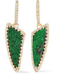 Kimberly Mcdonald - Metallic 18-karat Gold, Diamond And Garnet Earrings - Lyst