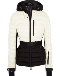 14f5b5c378 Moncler Grenoble Bruche Belted Two-tone Quilted Shell Ski Jacket in ...