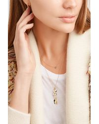 Alison Lou - Metallic Salt 14-karat Gold, Diamond And Enamel Necklace - Lyst