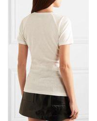 Gucci White T-Shirt mit Erdbeer-Print