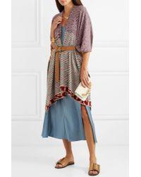 Missoni Purple Intarsia Cashmere Wrap